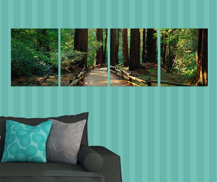 Patika orman tablo 4 parçalı tablolar