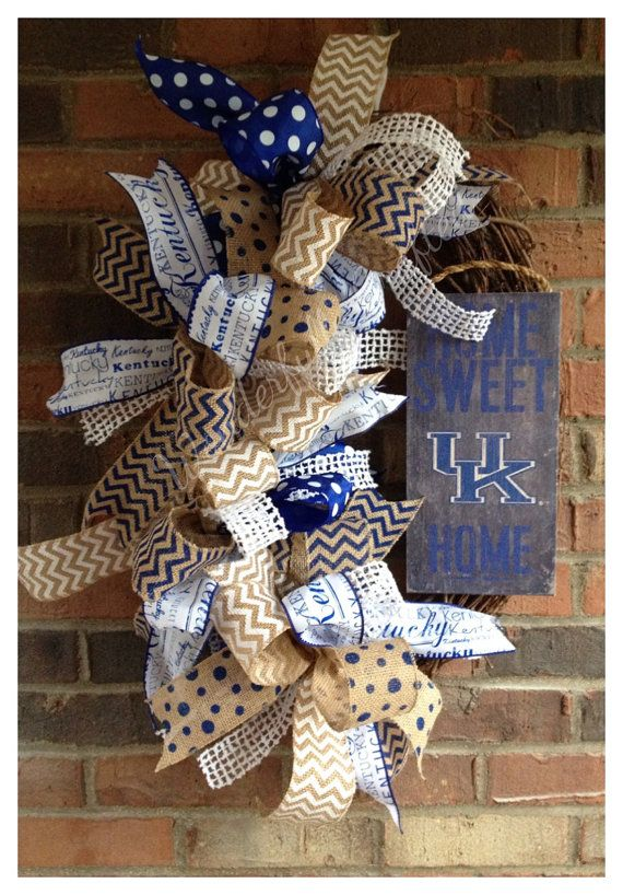 University of Kentucky Wreath by WonderfullyCrafted01 on Etsy