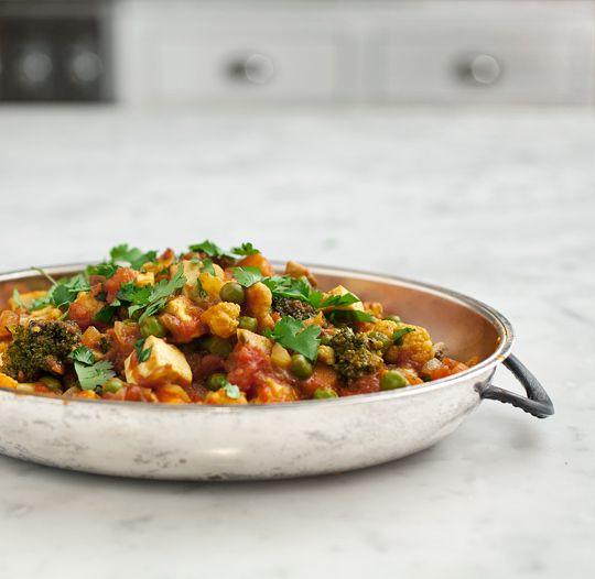 tomato vegetable curry with cardamom yogurt (on the side) #loveandlemons