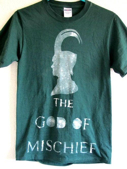 I WANT THIS SO BAD. LOKI fandom tshirts by BrittFaceNess on Etsy, $14.95
