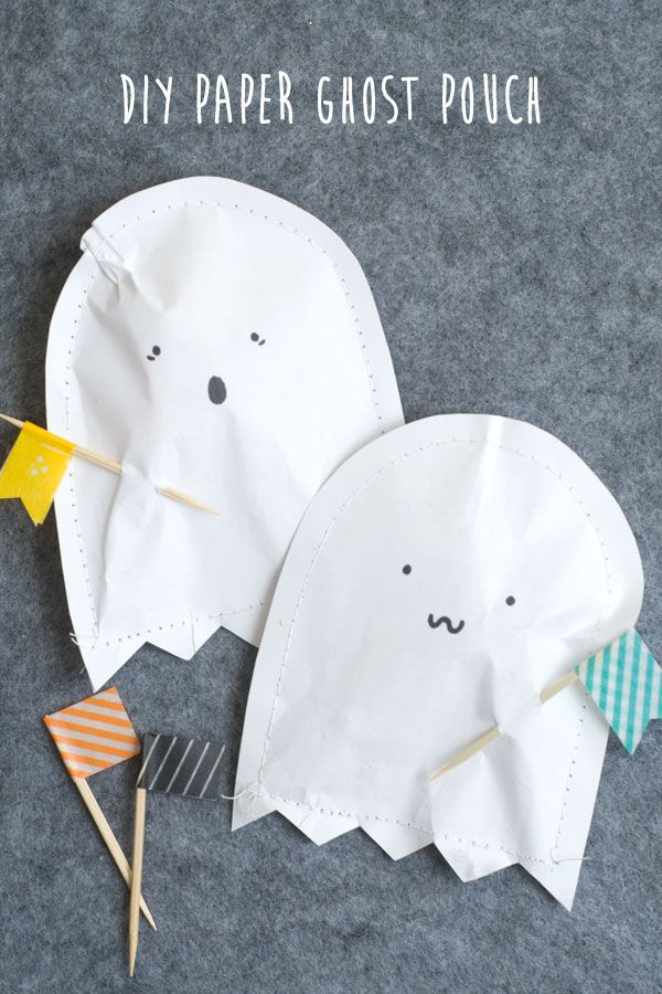 DIY: paper ghost pouch