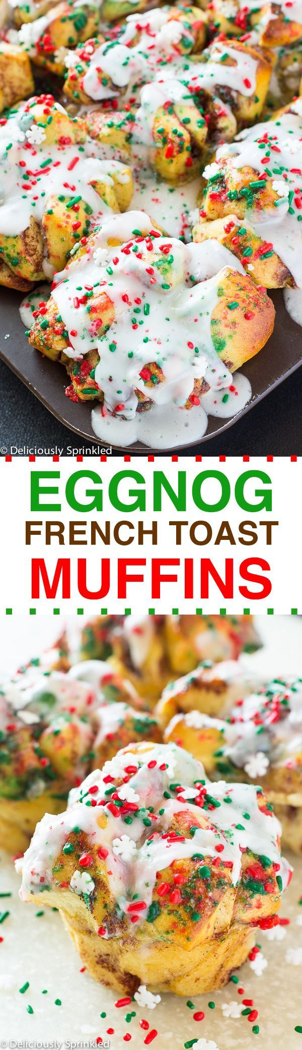 Easy Eggnog French Toast Muffins. The perfect holiday breakfast, brunch, or brinner recipe!