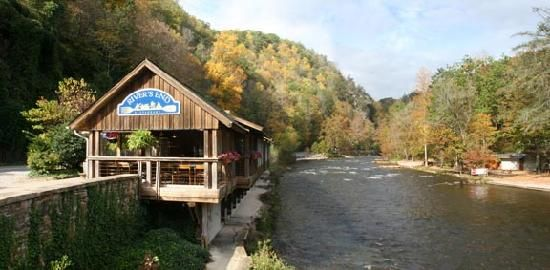 Rivers End Restaurant...Great food and amazing view!! Located on the Nantahala River in Bryson City, NC