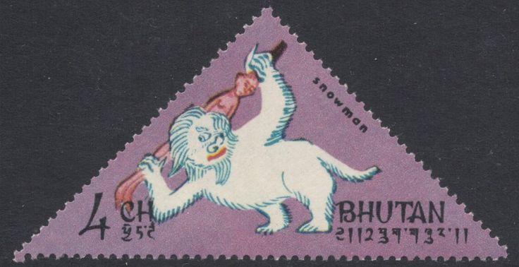 Bhutanese Yeti Stamp. Stamp Magazine Blog: The Wild Man of the Snows