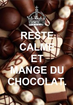 translation stay calm and eat some chocolate