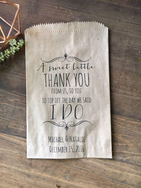 Wedding Favor Bags Candy Buffet Bags Candy Bar by DetailsonDemand