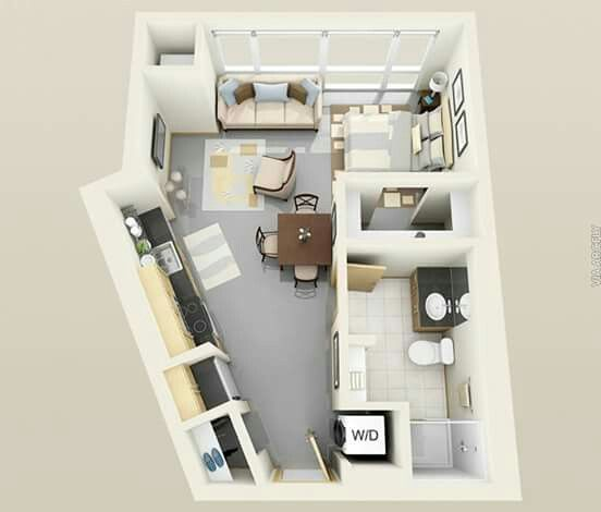 Studio Apartments Floor Plans 535 best planos en 3d images on pinterest | home plans, studio