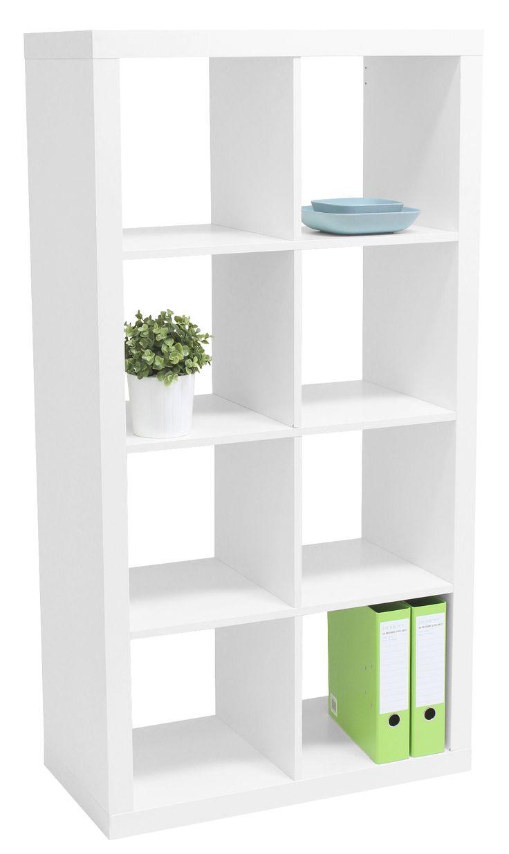 Malmo 8 Cube Bookcase White