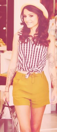 cher lloyd -- Tattoos look retro and cute