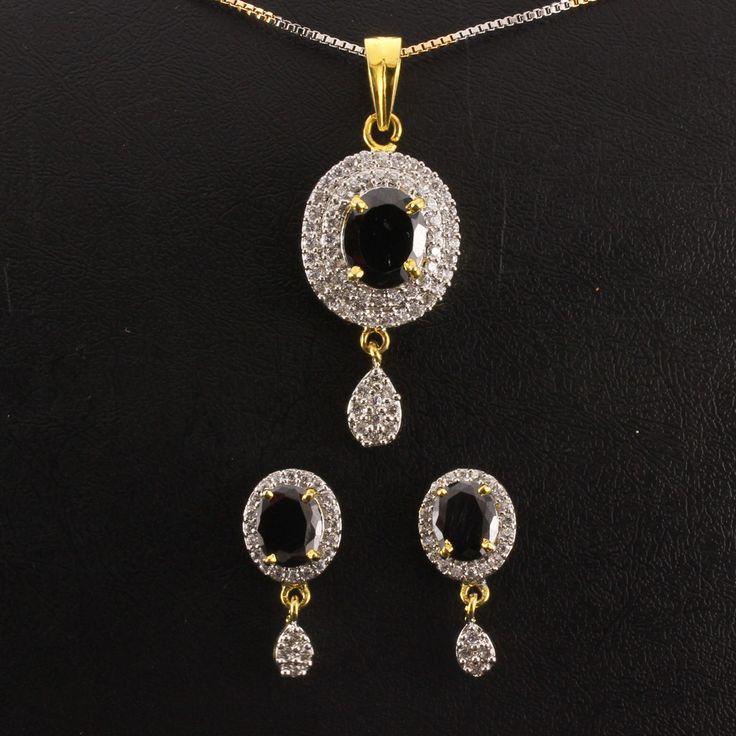 20 best pendant sets images on pinterest pendant set white designer pendant set cz white mozeypictures Choice Image
