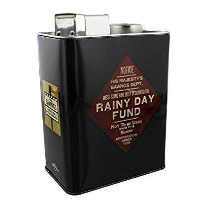Rainy Day Fund - Oil Can Money Tin