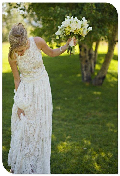 Vintage wedding dress I would make it a v-neck though