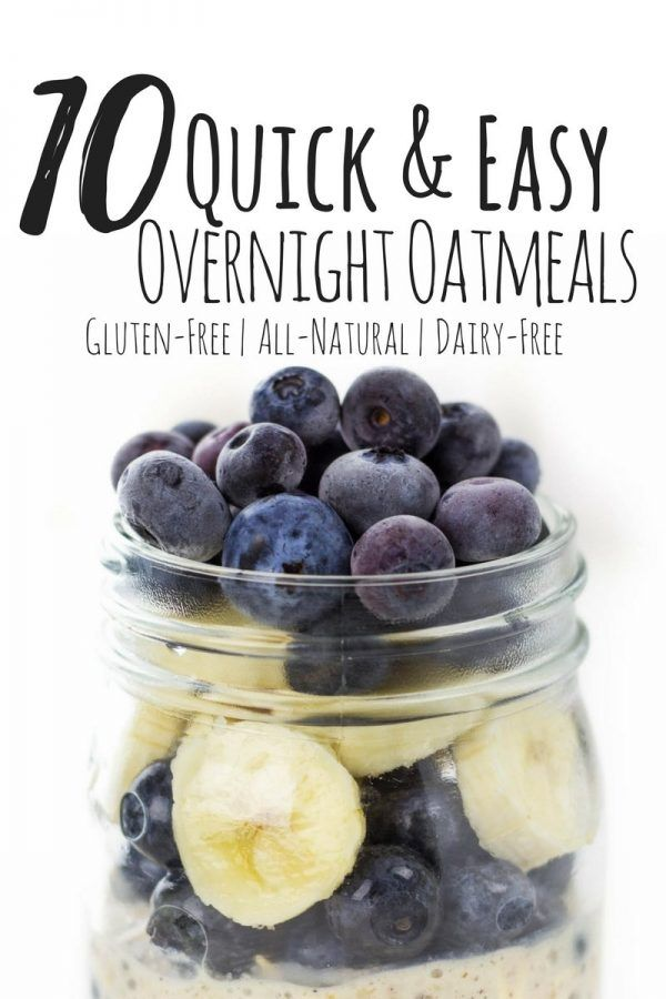 10 Best Overnight Oatmeal Recipes Gluten Free Recipes Easy
