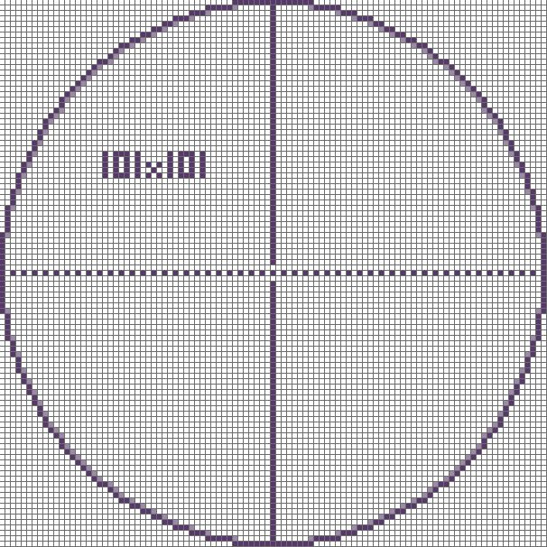 pixel circle chart google search block party pinterest chart rh pinterest com Degree Circle Diagram Large Minecraft Circle Guide