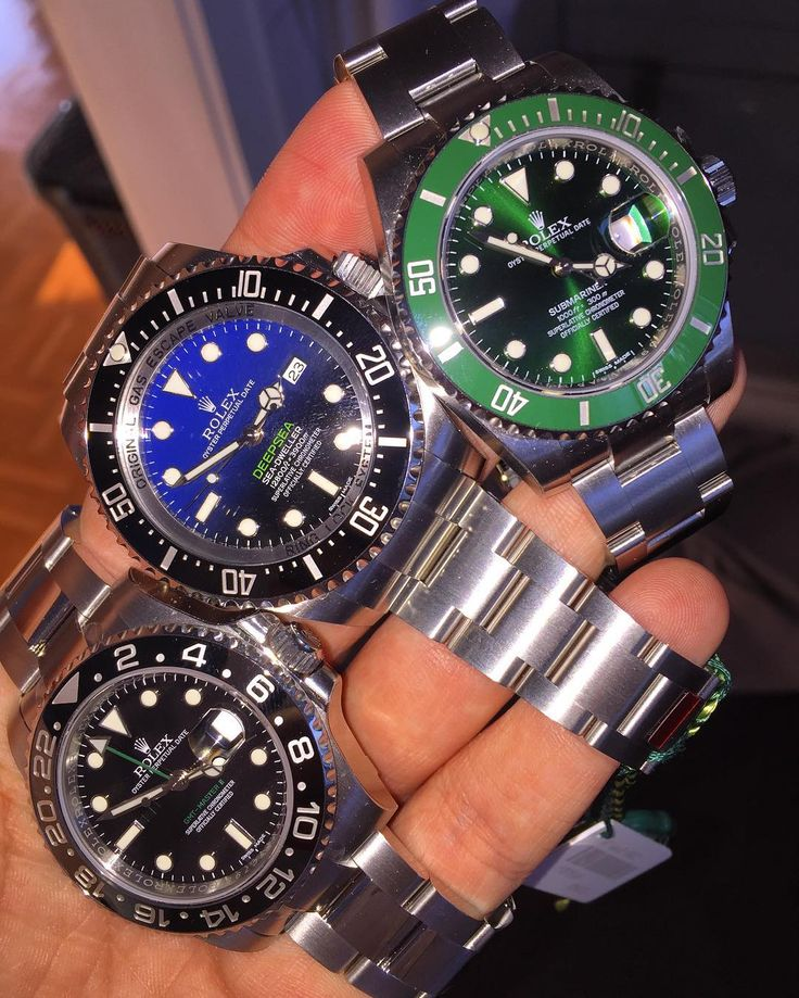 Choose One!?!  116710LN Rolex GMT Master II  166660 Rolex DeepSea DeepBlue 116610LV Rolex Submariner What's your favourite?  or??? By: @__payne__ by thewatchlovers #rolex #submariner