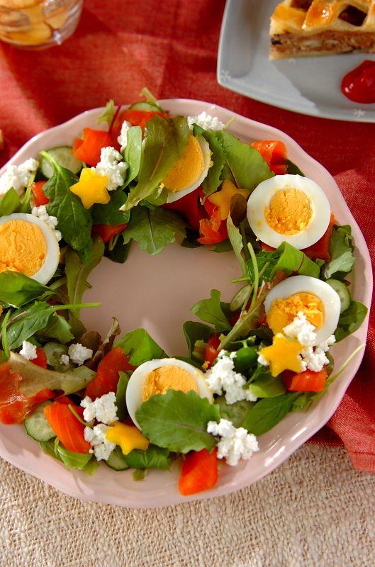 リースのサラダ #salad #recipe #Christmas