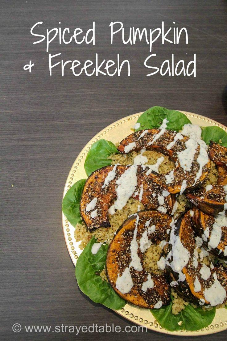 Spiced Pumpkin & Freekeh Salad Recipe