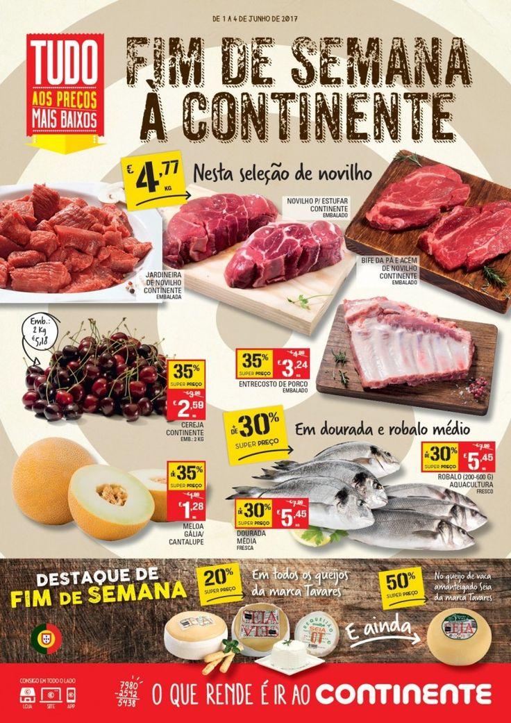Folheto de promoções Fim de Semana à #Continente em vigor de 01 a 04 Junho. Tudo aos preços mais baixos.