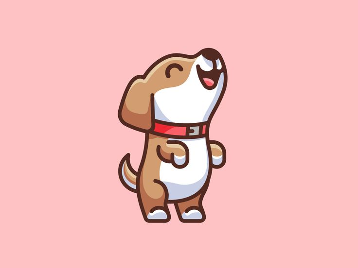 Dog Standing On Two Feet Cute Dog Cartoon Cute Dog Drawing Cute Animal Drawings