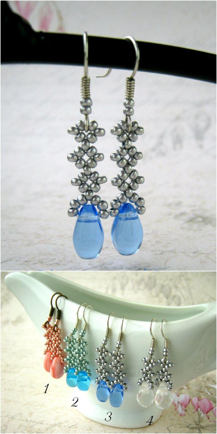 Seed bead ring ideas 5 nationtrendz com - Bead Dangle Earring Red Goldstone Earring Blue Crystal Earring Glass Bead Earring Natural Stone Crystal Iridescent Earring