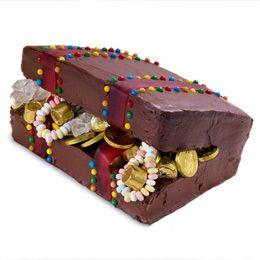Jake and the Neverland Pirates treasure chest cake!