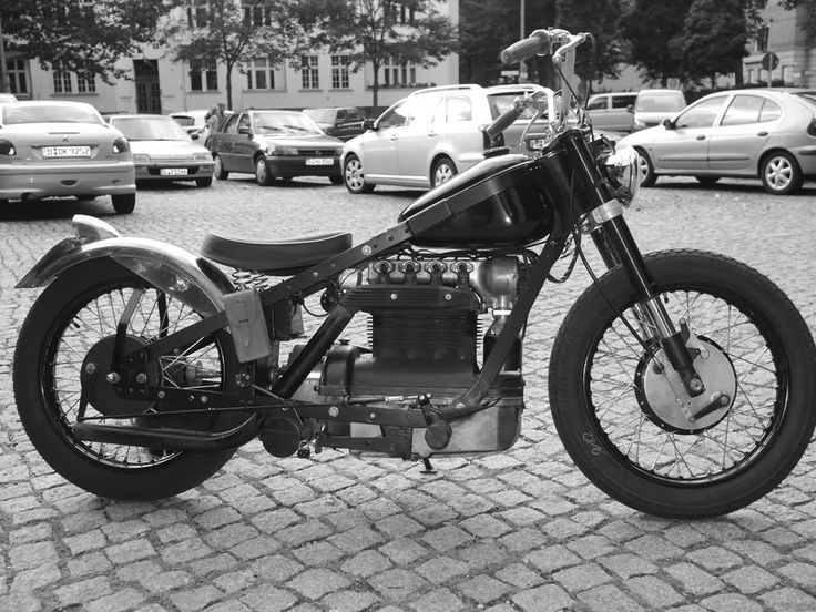 1947 Nimbus 2 750 - Thomas Bünnig - MotoArt, motorcycle, curves, lines, oldie, cool wheels, photo b/w, history, vehicle, transportation, cars, city view, buildings.