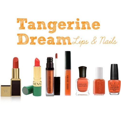 tangerine for lips and nails: Tangerine, Lips, Nails