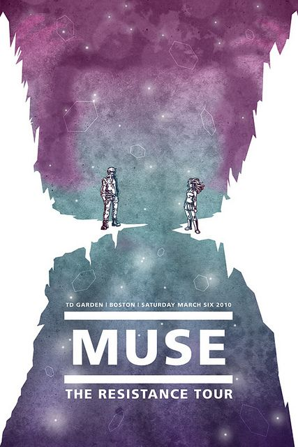 Muse Concert Poster by cheshyre-drops