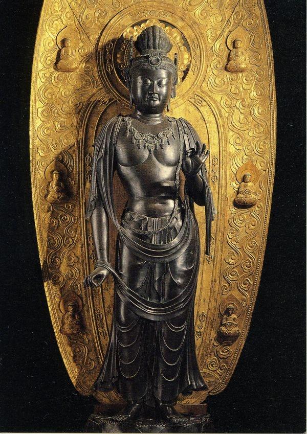 Japanese National Treasure, Gakko Bosatsu (Bodhisattva of Moonlight) Yakushi-ji Temple, Nara Prefecture Japan - 国宝 月光菩薩, 薬師寺, 奈良県, 日本