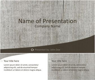 Wood Powerpoint Template