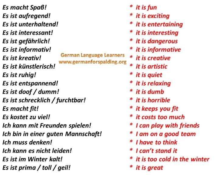 Some fun German phrases