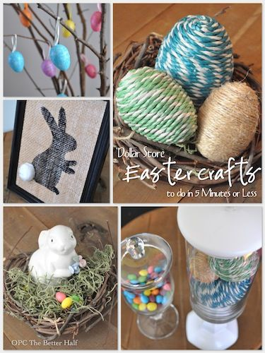Dollar Store Crafts To Do In 5 Minutes or Less
