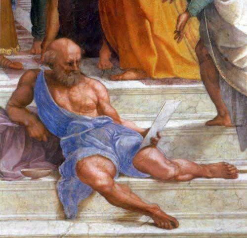 Musei Vaticani - Stanze di Raffaello. Stanza della Segnatura. The school of Athens (Diogenes, detail)