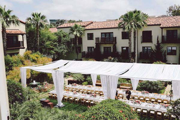Tent Overview - photo by Evangeline Lane Photography http://ruffledblog.com/tuscan-countryside-inspired-wedding-in-la-jolla
