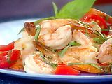 Shrimp with Basil, Garlic, and Tomatoes Recipe