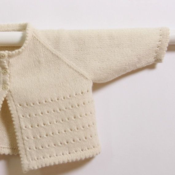 Baby Cardigan / Knitting Pattern Instructions por LittleFrenchKnits
