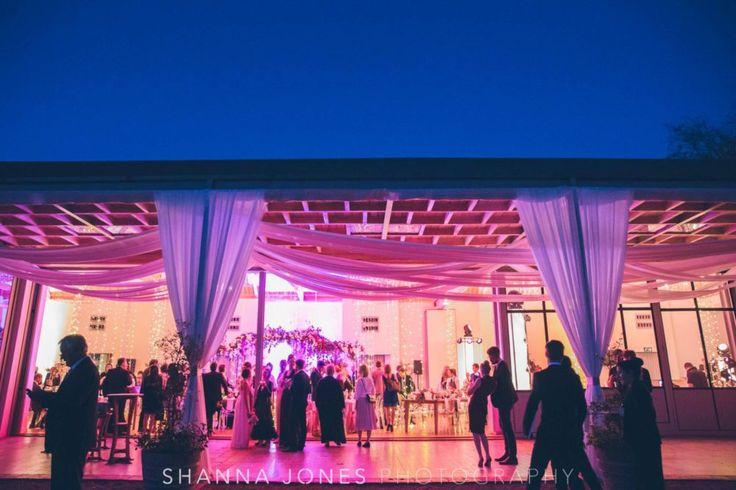 Marelize & Helgard winelands wedding - the aleit group  Winelands wedding. Wedding reception. Wedding photography. Pink lighting. Draping, Shanna photograhpy. Franschhoek. South Africa.