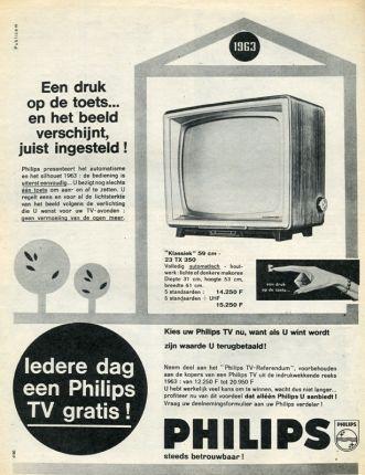 Reclame voor televisietoestel Philips