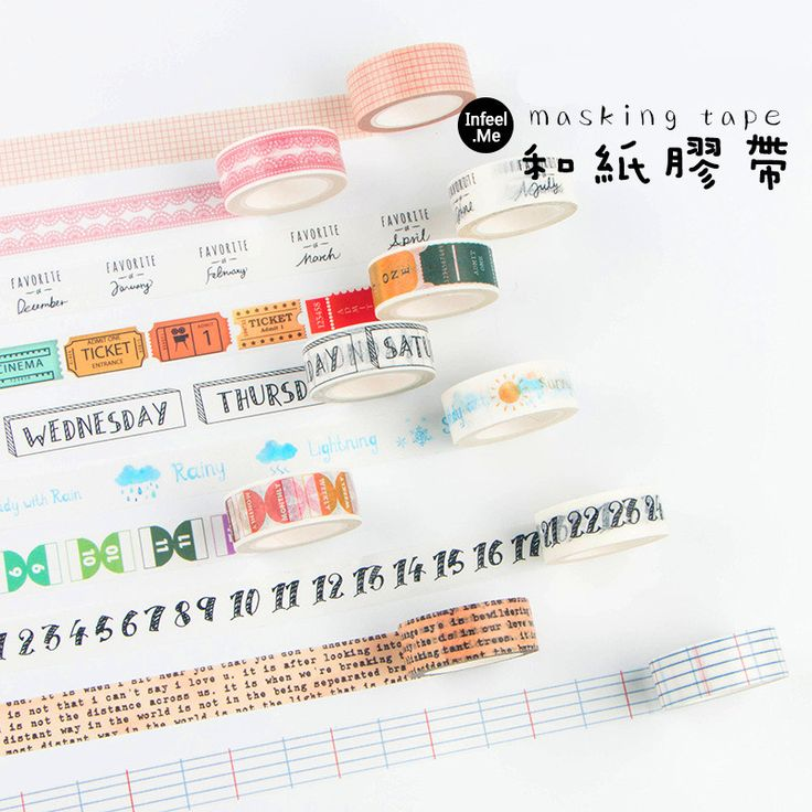 1pcs Infeelme Washi Adhesive Tape Travelers Series Japan Handbook Sticker Collage Scrapbooking Decorative DIY Sticky Paper Tape