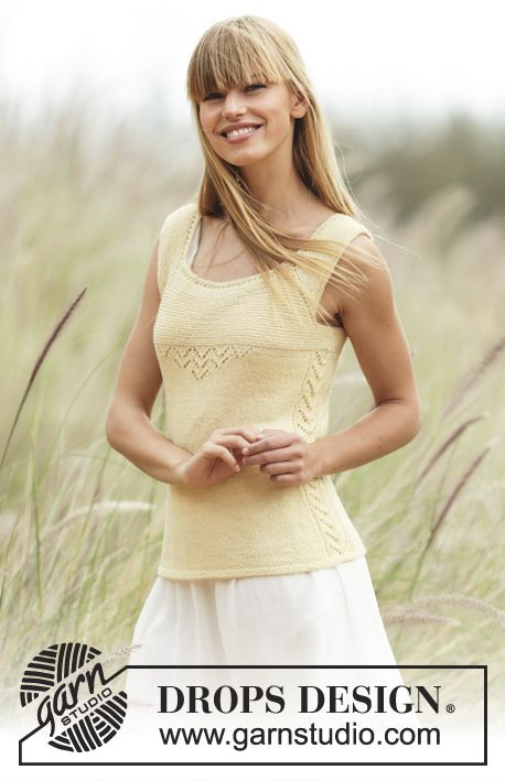 Fitted top, worked top down with raglan and #lace pattern. Free #knitting Pattern