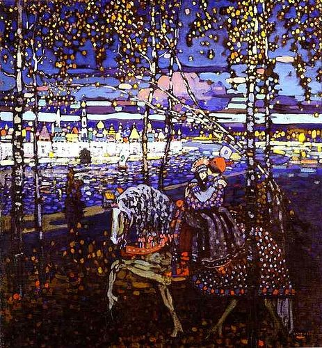 Kandinsky, Wassily - 1906 Couple Riding | Flickr - Photo Sharing!