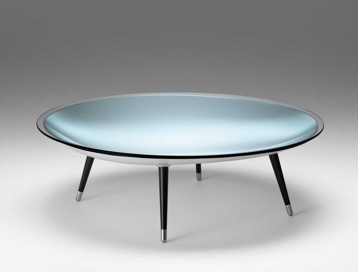 Beautiful Occassional Cocktail Table By Flam Called ROY   A Concave Base Composed Of  Curved Mirrored Glass Is Mounted On Four Removable Black Or White Legs With  ... Amazing Pictures