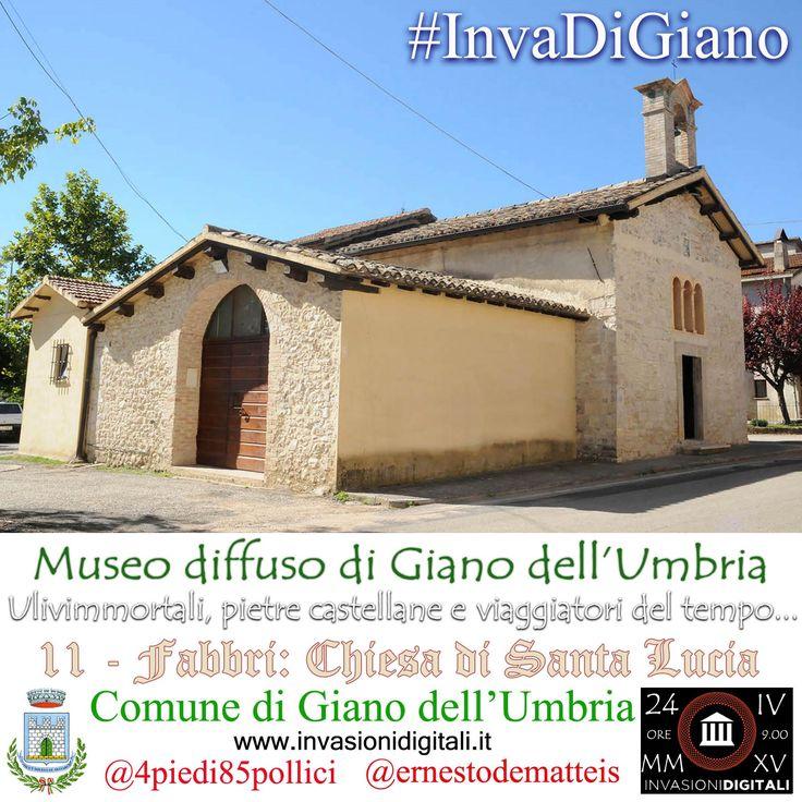 Chiesa di santa Lucia di Fabbri #InvaDiGiano2015 #invasionidigitali