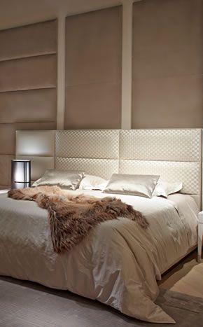 Fendi Casa, FF CASA Regent bed with Damier Tressage and Dedalo bedside tables