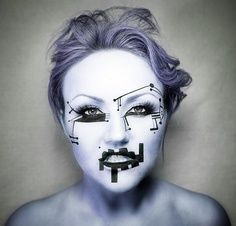 robot makeup - Google Search