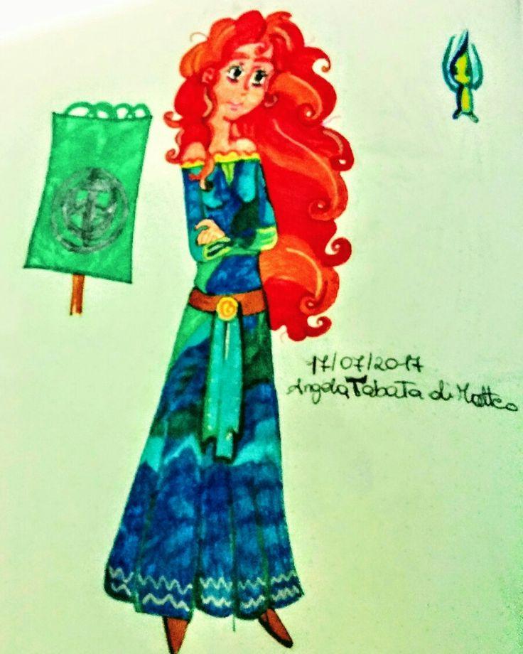Merida Ribelle the Brave #fanart #illustration #drawing #cartoon #merida #disney