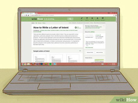 Image titled Write a Letter of Intent Step 1