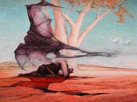 """Personal blog post by Sam """"Without this explanation I know I would have had no real inclination and certainly no ability to access the underlying substance and meaning in #art like Ainslie Roberts'"""". #Photography #Artist #HumanCondition #Dreamtime #Aboriginal"""