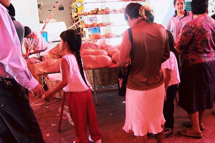 Buying Pan De Muertos from Street Market