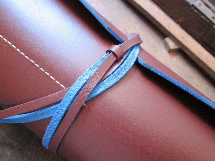 Leather pencil case//